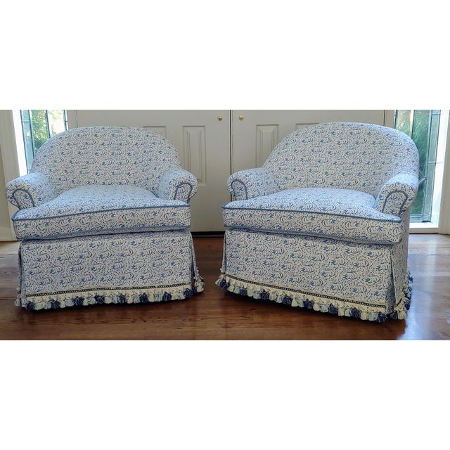 Custom Upholstered Bunny Tub Chairs - a Pair For Sale In Pittsburgh - Image 6 of 6