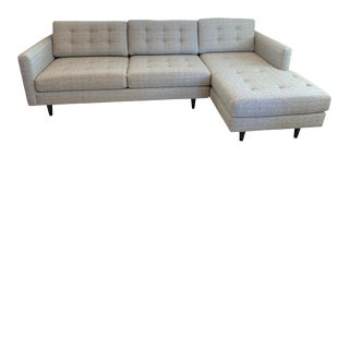 Soho Concept Taxim Style Grey Tweed Right Sectional For Sale