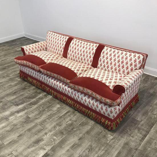 Kathy Ireland Bohemian Paisley Fabric Upholstered Sofa Chairish