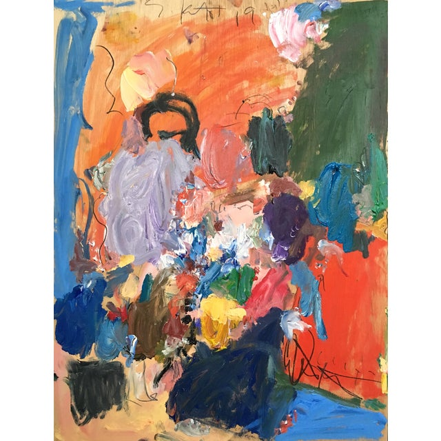 Abstract Oil Painting by Sean Kratzert 'Burst' For Sale