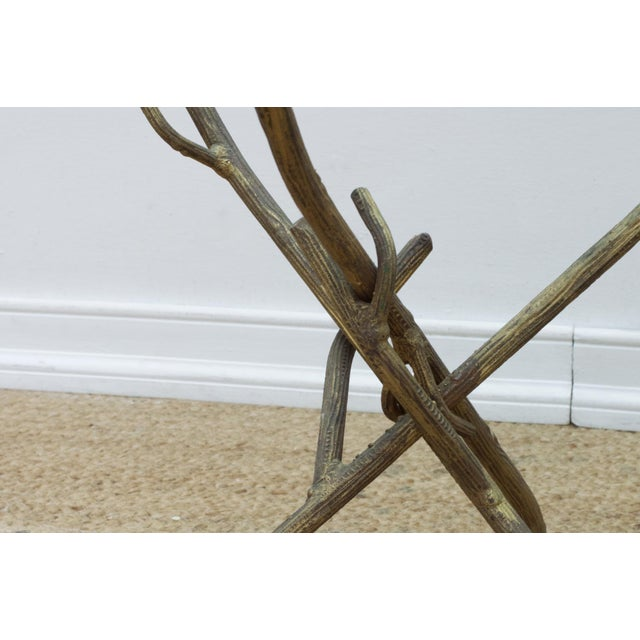 Metal Faux Bois Branch Form Cocktail Table For Sale - Image 7 of 8