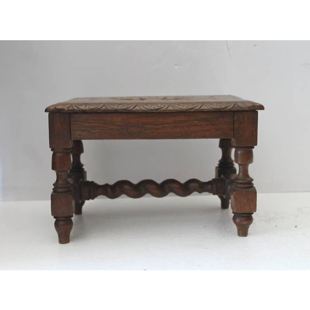 Mid 19th Century Hand Carved 19Th Century English Foot Stool For Sale - Image 5 of 7