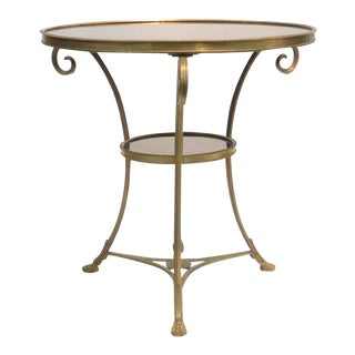 Directoire Bronze Two Tier Gueridon Table For Sale