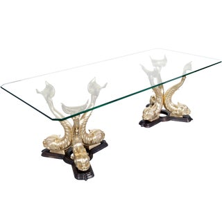 Monumental Italian Koi Fish Dining Table For Sale