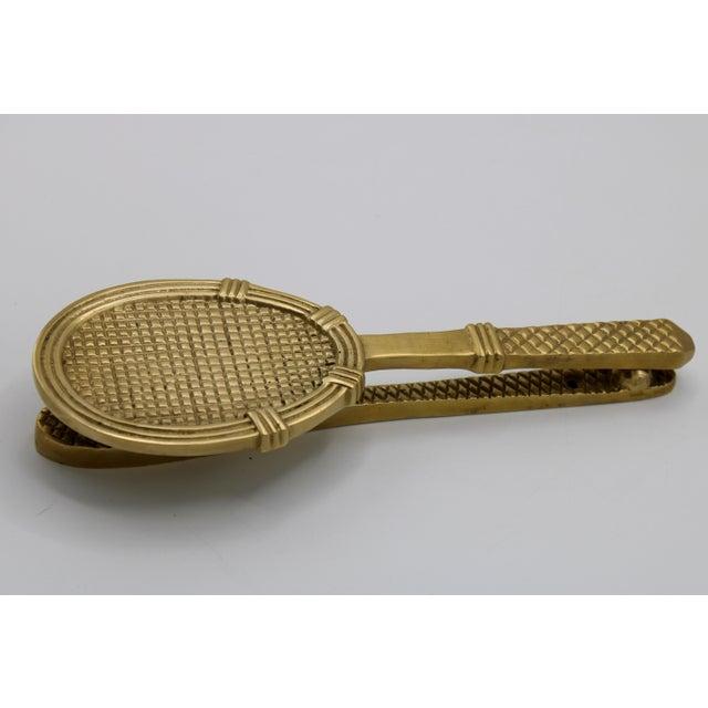 Vintage Solid Brass Tennis Racket Door Knocker For Sale - Image 4 of 11