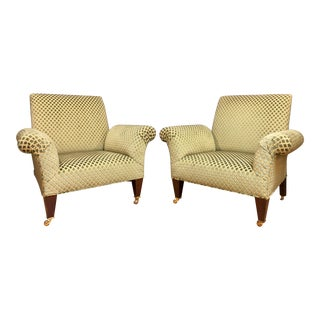 George Smith Butterfly Chairs- A Pair For Sale