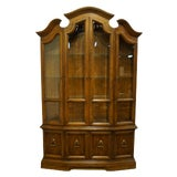 Image of Drexel Heritage Italian Provincial Walnut China Cabinet For Sale