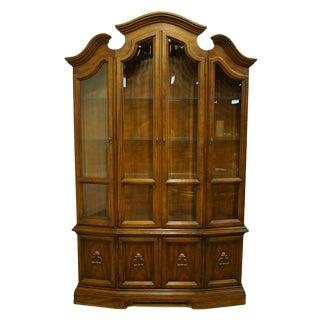 Drexel Heritage Italian Provincial Walnut China Cabinet For Sale