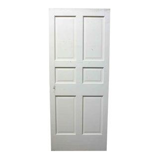 White Wooden Six Panel Interior Door