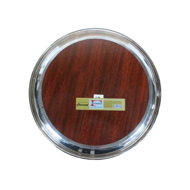 Retro Silver and Formica Platter - Image 3 of 4