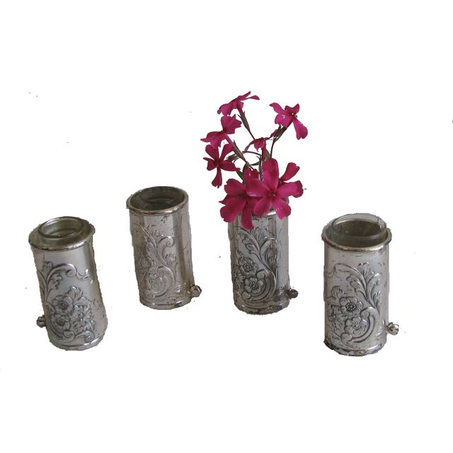 Silver Repousse Placecard Menu Vases - Set of 4 - Image 3 of 3