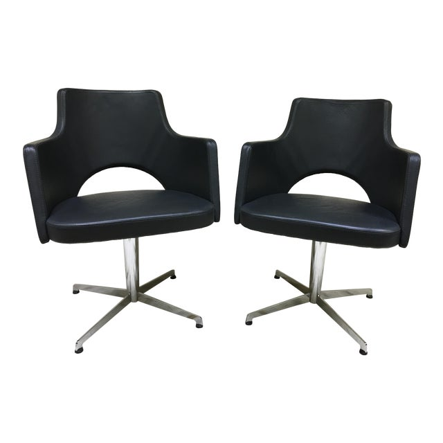Lammhults Cortina Star Base Swivel Chairs - a Pair For Sale