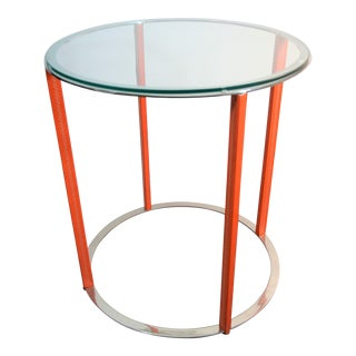 Minimalist Bungalow 5 Rudolph Side Table in Orange For Sale