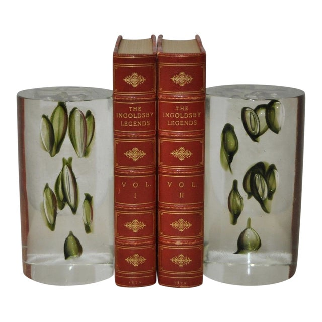 1960s Antonio Da Ros Hand Made Glass Sculptural Bookends For Sale