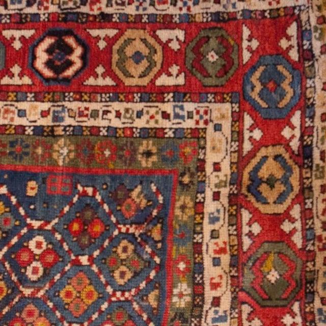 "Islamic 19th Century Kuba Prayer Carpet - 39"" x 56"" For Sale - Image 3 of 3"