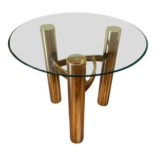 1970s Hollywood Regency Brass Side Table For Sale