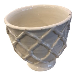 Large Criss Cross Pattern Planter For Sale