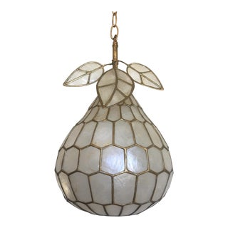 Capiz Pear Pendant Light