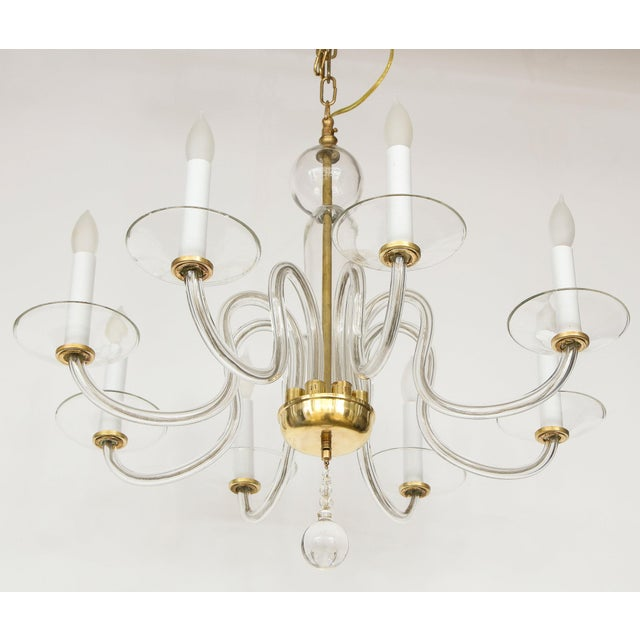1960s Murano Glass Eight Arm Chandelier For Sale - Image 10 of 11