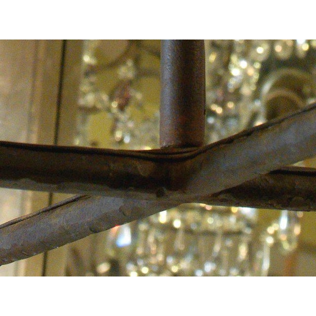 """Customizable """"Guernesy"""" Hand-Wrought Custom Iron Chandelier For Sale - Image 4 of 7"""