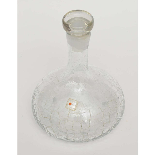 Crackled Glass Blenko Modern Decanter - Image 6 of 10