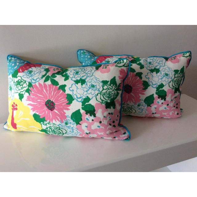 Cottage Style Handmade Floral Pillows - a Pair For Sale - Image 11 of 11