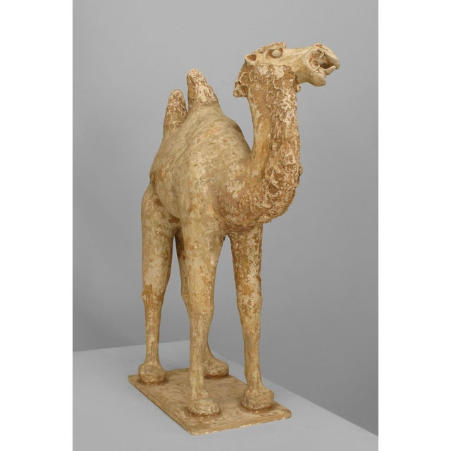 Asian Chinese Tang Dynasty Unglazed Pottery Camel For Sale - Image 4 of 7