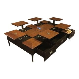 Grange Custom Oak Rise Coffee Table For Sale