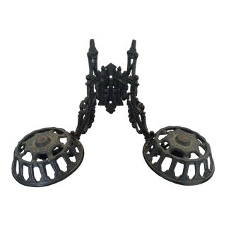 19th Century Antique Oil Lamp Bracket Hooks For Sale