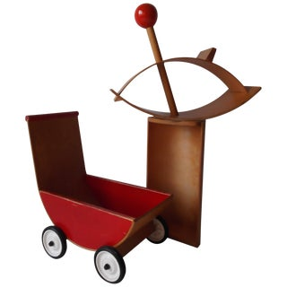 1960s Mid-Century Modern Creative Playthings Child's Toys Cradle Buggy Rocking Horse For Sale