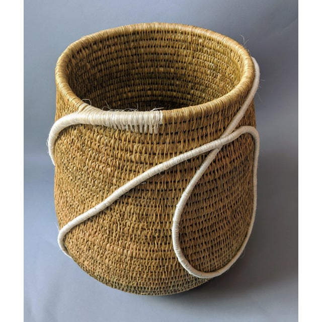 Textile Swaziland Handwoven African Basket For Sale - Image 7 of 11