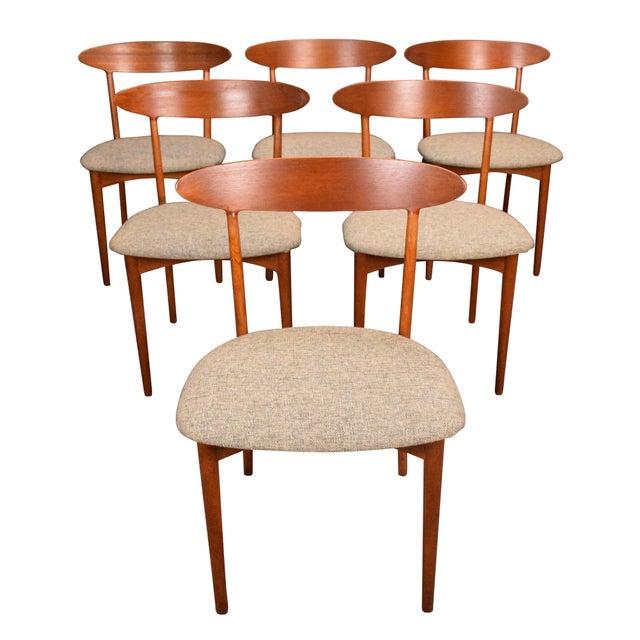 Vintage Kurt Ostervig Danish Modern Teak & Oak Dining Chairs - Set of 6 For Sale - Image 11 of 11