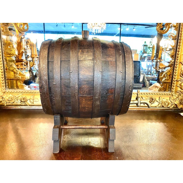19th Century French Oak Cognac Barrel on Stand For Sale In Atlanta - Image 6 of 8
