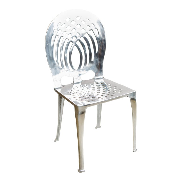 Statements by J Contemporary Aluminum Side Chair For Sale