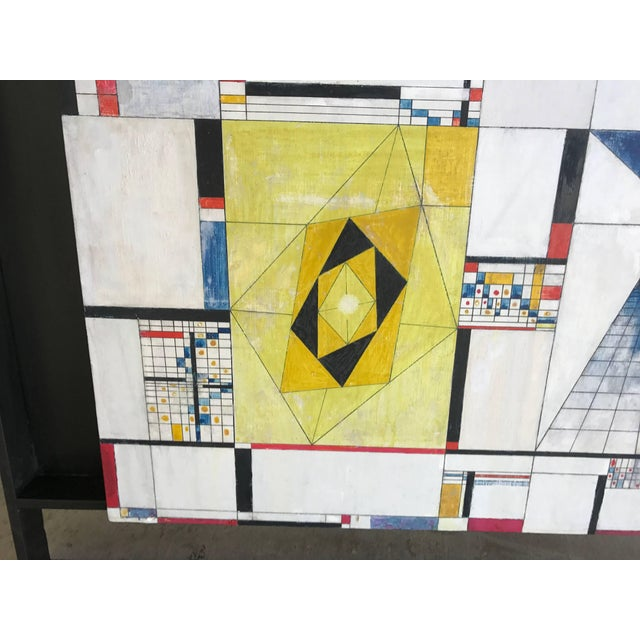 A beautiful vibrant and colorful early abstract geometric by the important California artist James McCray. It is titled...