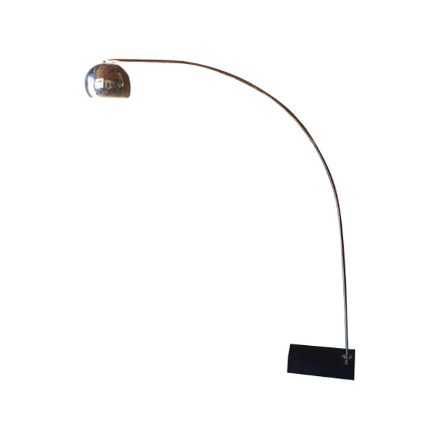 Mid Century Chrome Arc Floor Lamp