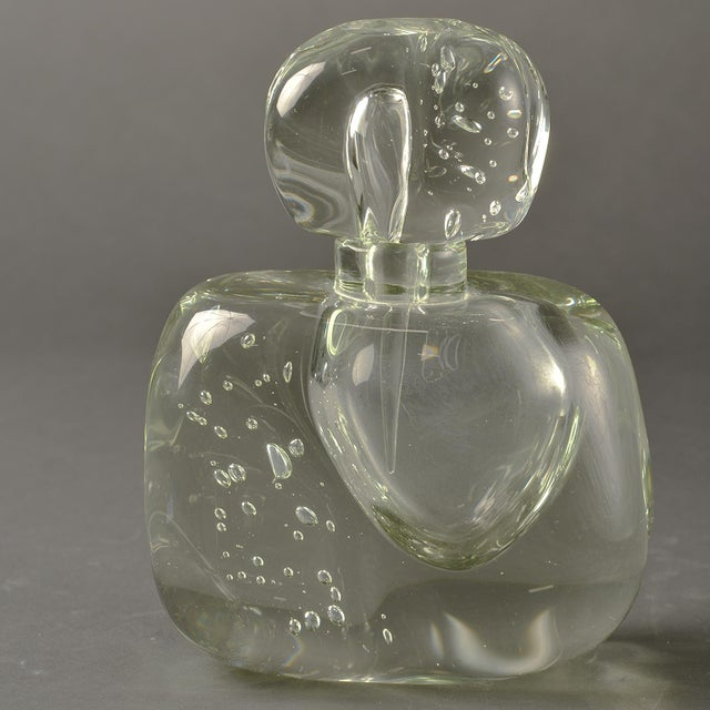 Extra Large Clear Murano Glass Perfume Bottle For Sale In Detroit - Image 6 of 7