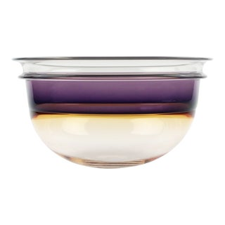 1980s Studio Art Glass Bowl by Art Reed For Sale