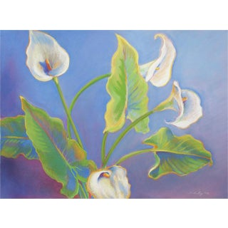Linda Ruiz Lozito Calla Lilies Soft Pastel Drawing For Sale