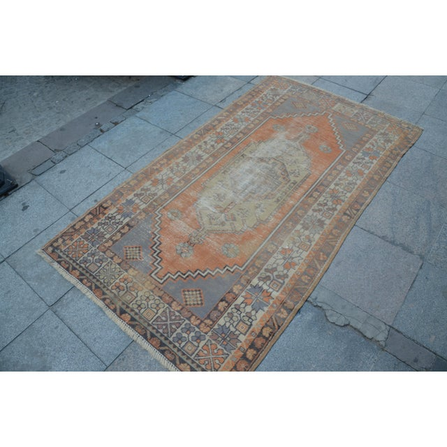 Islamic Anatolian Vintage Turkish Rug - 3′10″ × 6′9″ For Sale - Image 3 of 6