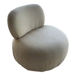 Vintage Space Age Lazar Swivel Poof Chair