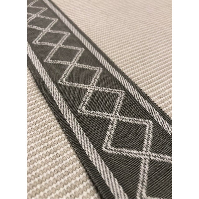 """Modern Modern Gray and White Diamond Motif 2.375"""" Band Fabric Trim - Yards For Sale - Image 3 of 4"""