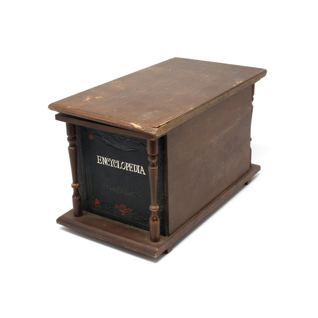 Vintage Japanese Wood and Leather Library Liquor Box With Original Glassware For Sale In Tampa - Image 6 of 12