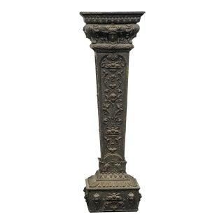 Victorian Manner Cast Metal Pedestal Plant Stand For Sale