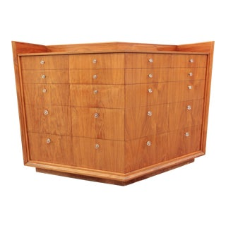 1980s Danish Modern Walnut Double Dresser For Sale
