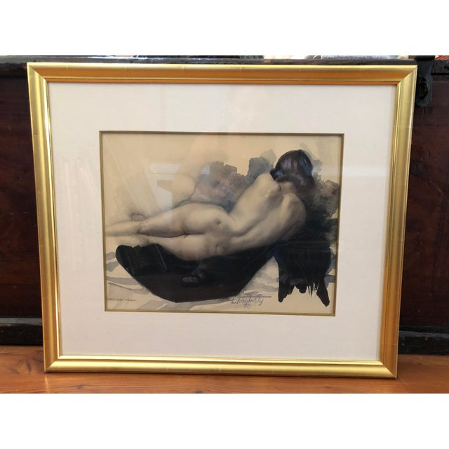 Offering this beautiful Original Lev Tchistovsky (1902-1969) Untitled Reclining Nude Watercolor Painting. Signed lower...