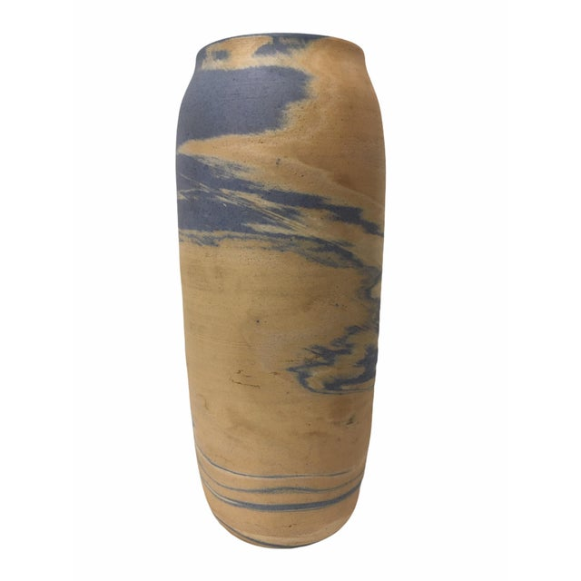Mission Antique Early 20th Century Niloak Pottery Mission Swirl Vase For Sale - Image 3 of 7