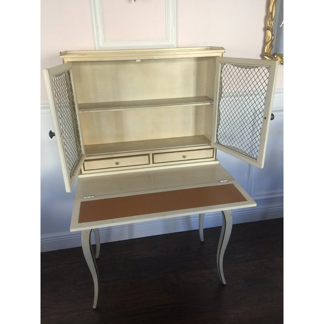 French Provincial Secretary Desk With Mesh Doors - Image 7 of 11