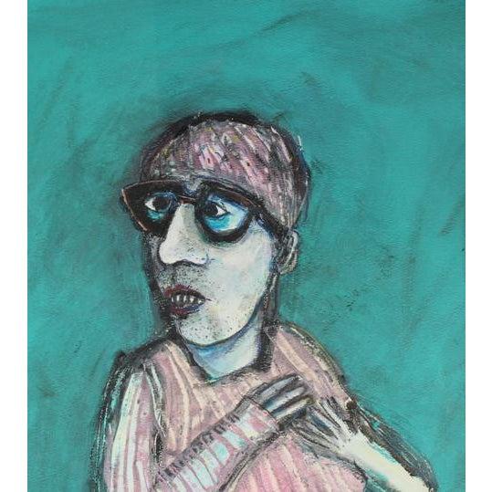 Modern 1981 Kjell Erik Killi Olsen Self Portrait Painting For Sale - Image 3 of 5