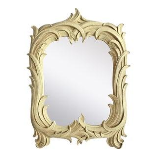 Hollywood Regency Serge Roche Style Palm Foliate Mirror For Sale